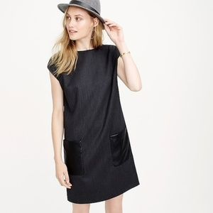 J. CREW Vegan Leather Pocket Shift Dress {C26}